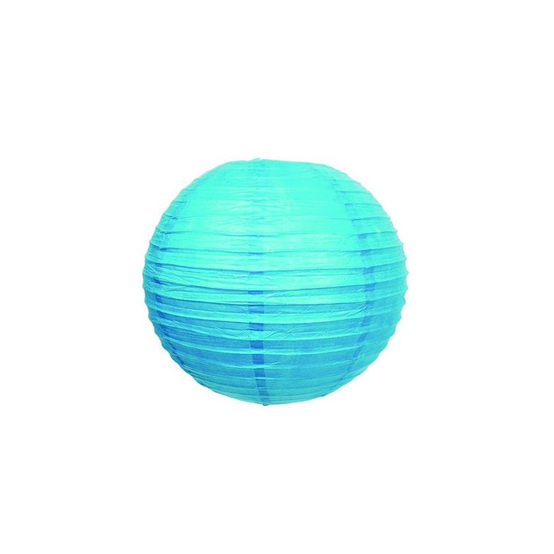 lampion boule d co turquoise