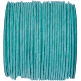 Ruban corde laitonné de couleurs turquoise