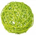 Boules en rotin vert anis (x10)