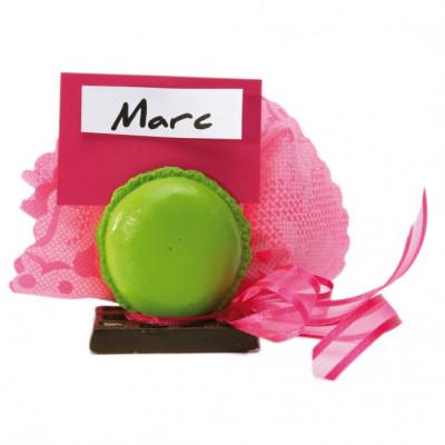 Macaron marque place vert anis