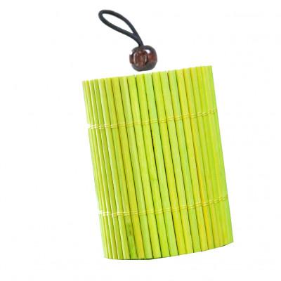 Boîtes tubes en rotin (x5) vert anis