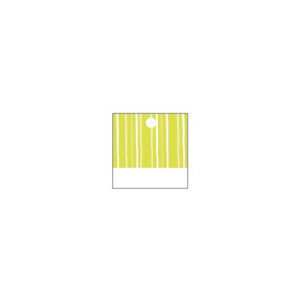 Etiquettes rayées carrées (x25) vert anis