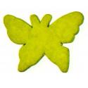 Papillons gomme déco vert anis (x15)