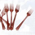 Fourchettes en plastique (x12) chocolat