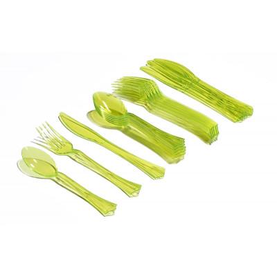 Ménagère estivale (x18) vert anis