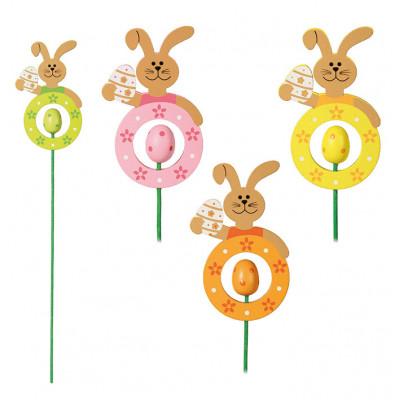 Pic lapin et oeuf de Pâques pour le jardin