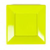 Assiettes à dessert carrées vert anis (x8)