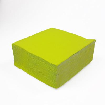 Serviettes papier de couleur vert kiwi (x40)