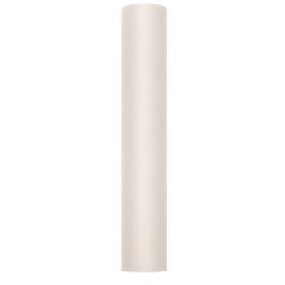 Rouleau de tulle déco ivoire
