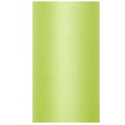 Rouleau de tulle L.30 cm vert anis