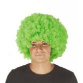Perruque verte bouclée
