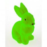 Grand lapin flocké vert anis