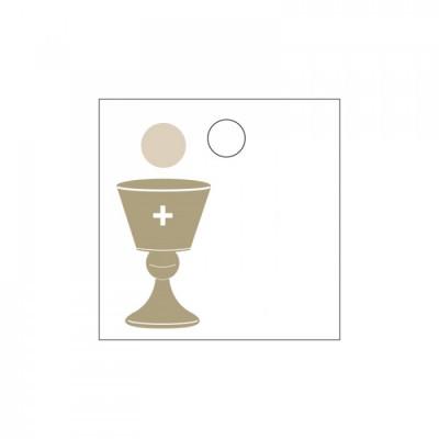 Etiquette marque-place calice (x25) blanc or