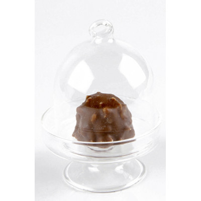 6 mini cloches en verre transparent