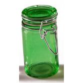 Bocal en verre de couleur vert anis
