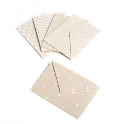 Enveloppes à faire-part en lin (x5)