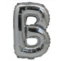 Ballon Mylar Lettre B argent