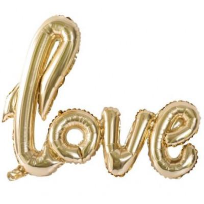 Ballon métallisé LOVE or
