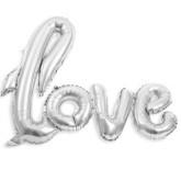 Ballon métallisé LOVE argent