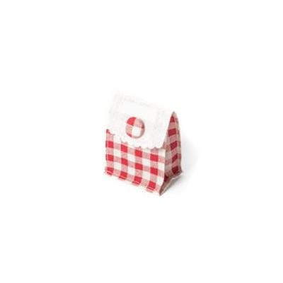 Pochettes à cadeau vichy en lin (x5)