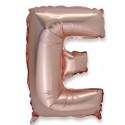 Ballon lettre E rose gold