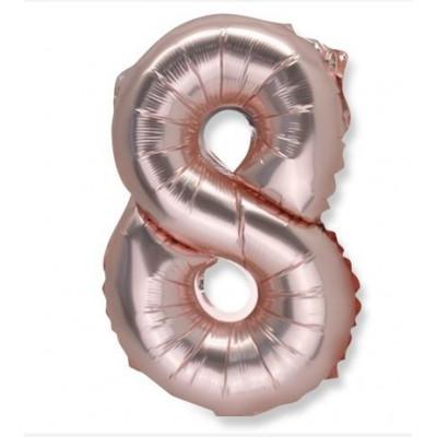 Ballon chiffre 9 rose gold