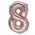 Ballon chiffre 8 rose gold