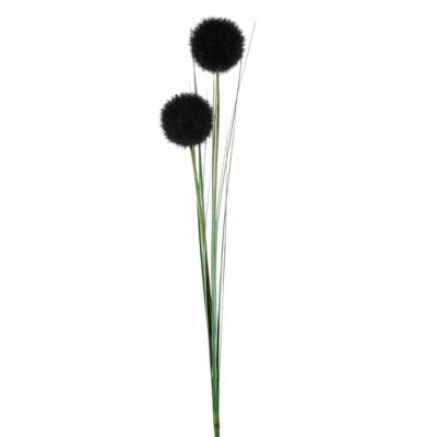 Tige de 2 pompons Noir