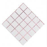 Serviettes hexagonales or rose x16