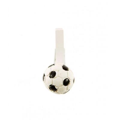 Mini pinces ballons de foot (x6) blanc / noir