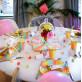 Bougies géantes paillettes rose x6