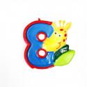 Bougie âge Safari multicolore 8