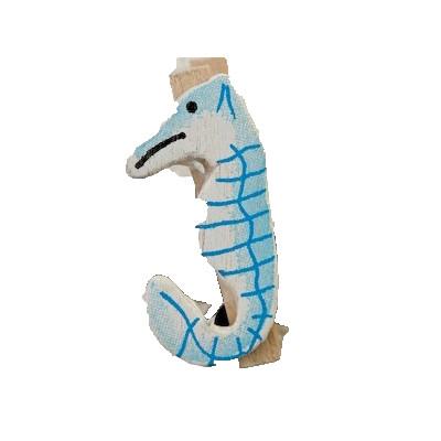 Mini pinces hippocampe (x6) ivoire