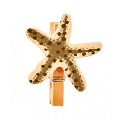 Mini pince étoile de mer (x6) ivoire