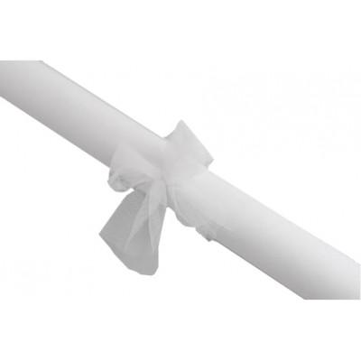 Rouleau de tulle déco blanc