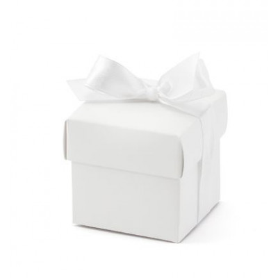 Boites cubes blanches (x10)