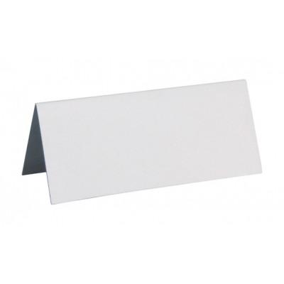 10 marque-places unis de couleur blanc