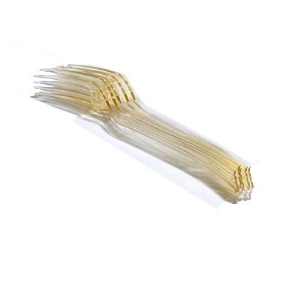 Fourchettes en plastique (x12) ivoire
