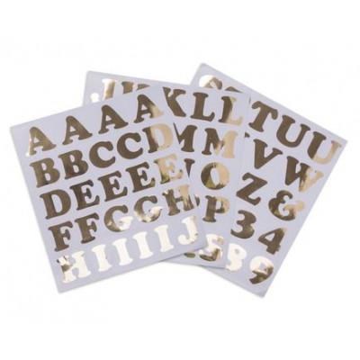d co stickers muraux or alphabet et chiffres adh sifs. Black Bedroom Furniture Sets. Home Design Ideas