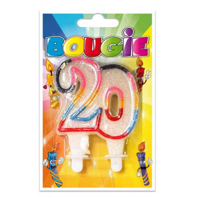 Bougie 20 ans