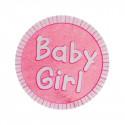 Stickers baby métallisés (x25) rose