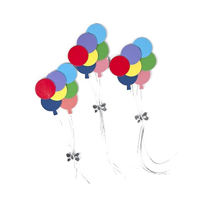 Stickers grappes de ballons (x2) multicolore