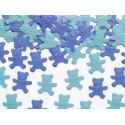 Confettis de table oursons bleu / turquoise