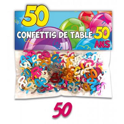 Confettis 50 ans multicolore