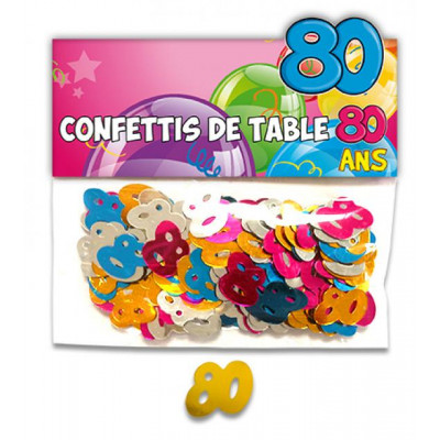 Confettis 80 ans multicolore