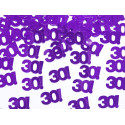 Confettis de table violets 30 ans