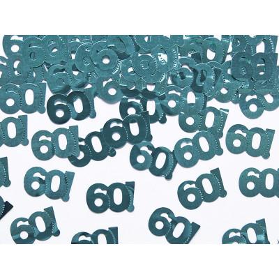 Confettis de table verts 60 ans vert