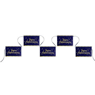 Banderole Joyeux Anniversaire Bleu Et Or Maplusbelledecocom