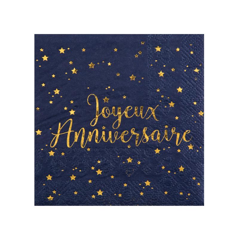 Une fleur un arc en ciel ... Violette  - Page 2 Serviette-joyeux-anniversaire-bleue-et-or-x20