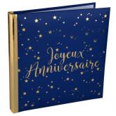 Livre d'or Joyeux Anniversaire métallisé